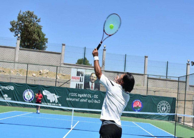Cudi Cup Ulusal Tenis Turnuvası başladı