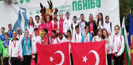 Milli atletlerden Balkan Dağ Koşusu Şampiyonası'nda 3 şampiyonluk, 7 madalya