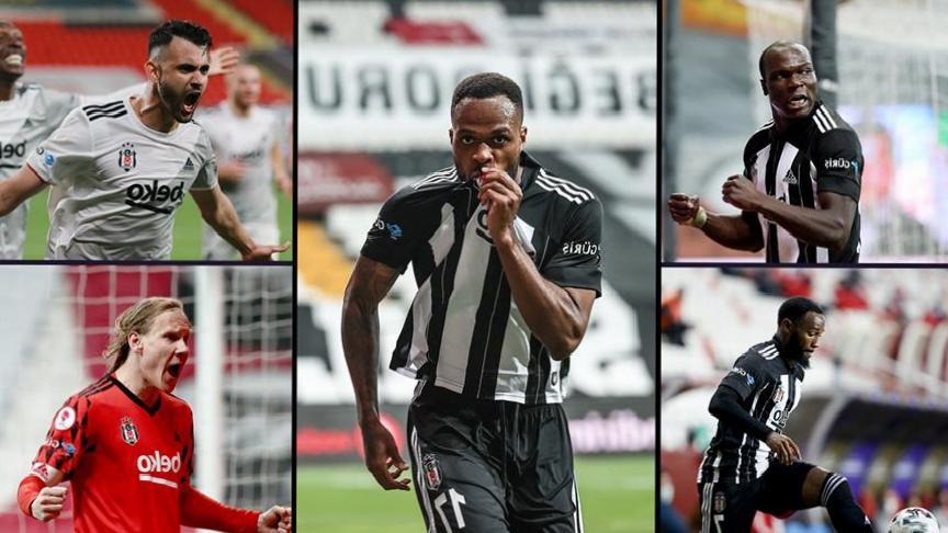 Şampiyon Beşiktaş'ta 5 futbolcu hücuma büyük katkı verdi