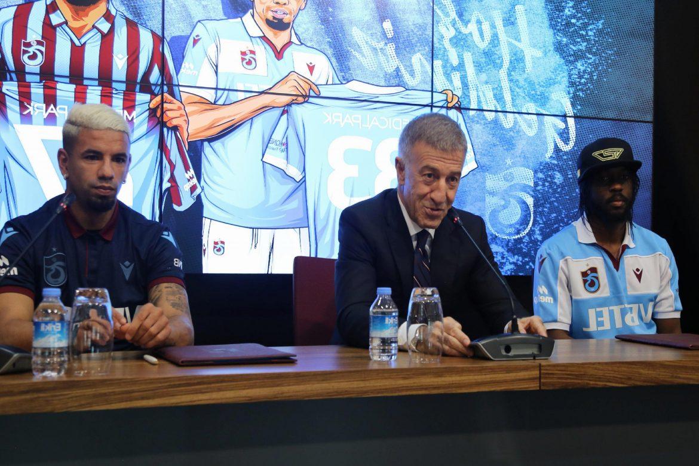 Trabzonspor, Gervinho ve Bruno Peres için imza töreni düzenledi